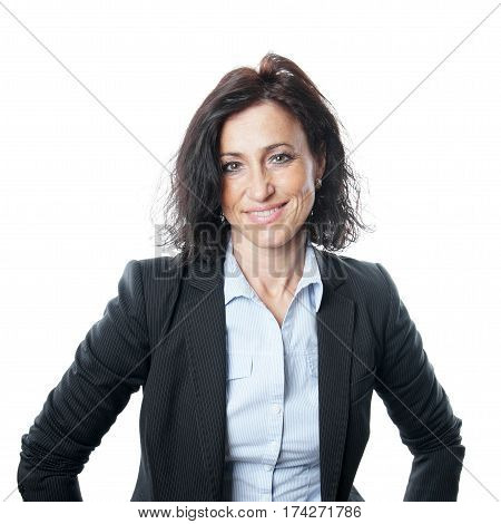 portait of middle aged spanish business woman