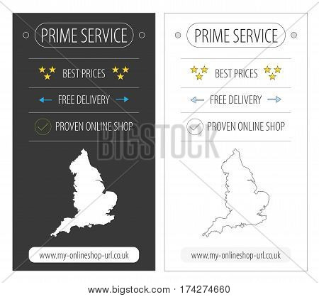 England top service eCommerce banner illustration in two variations poster