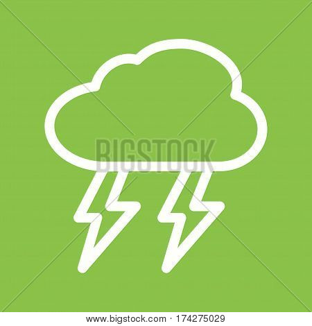 Lightning, storm, rain icon vector image. Can also be used for disasters. Suitable for mobile apps, web apps and print media.