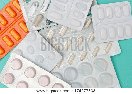 Various new and spent medicinal blister packs