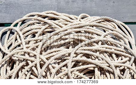 Rope on the boat to use for tied with a cleat at harbor sometime it's use for drag the other boat rescue and hold something etc.