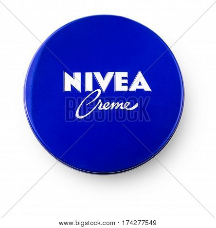 Chisinau Moldova March 02 2017: Nivea global skin- and body-care brand owned by the German company Beiersdorf.