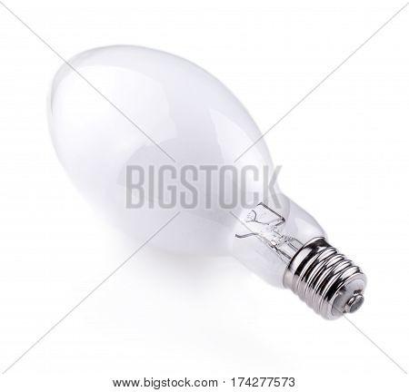 Screw Light Bulb on white background .