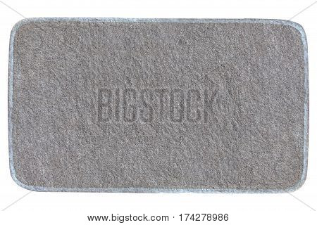 doormat isolated on white background, mat object texture