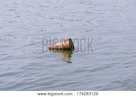 Water Pollution - Floating Barrel