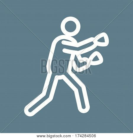 Boxer, fight, ring icon vector image. Can also be used for olympics. Suitable for mobile apps, web apps and print media.