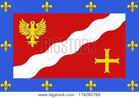 Flag of Val-dOise is a French department in the region of Ile-de-France