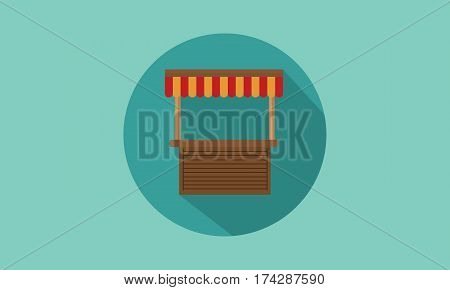 Vector art of street stall design collection stock