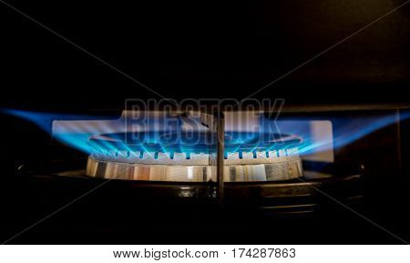 The Dark Gray Pot On Gas Hob
