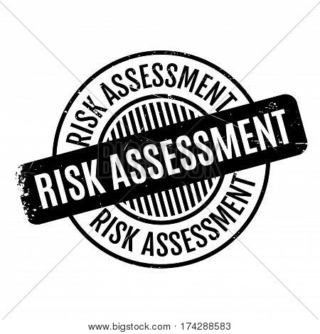 Risk Assessment rubber stamp. Grunge design with dust scratches. Effects can be easily removed for a clean, crisp look. Color is easily changed.