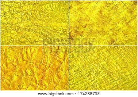Set creative luxury golden texture.