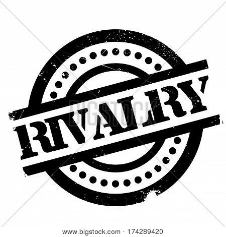 Rivalry rubber stamp. Grunge design with dust scratches. Effects can be easily removed for a clean, crisp look. Color is easily changed.