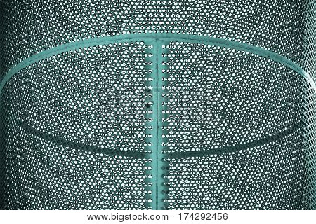 Metal cylinder produces the Moire effect. Geometrical background.
