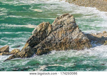USA Pacific coast landscape, Julia Pfeiffer Burns State Park, California.