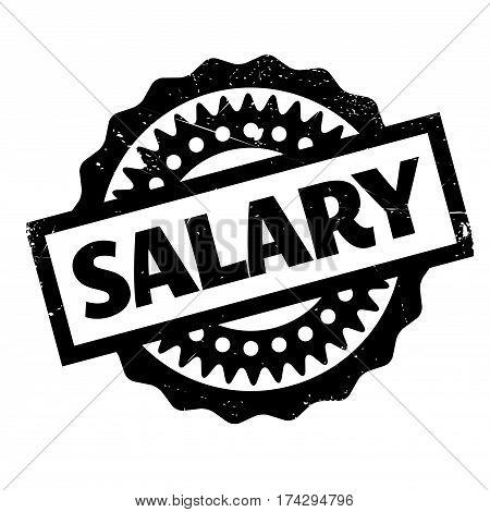 Salary rubber stamp. Grunge design with dust scratches. Effects can be easily removed for a clean, crisp look. Color is easily changed.