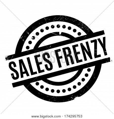 Sales Frenzy rubber stamp. Grunge design with dust scratches. Effects can be easily removed for a clean, crisp look. Color is easily changed.