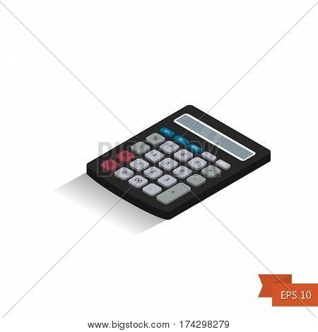 Calculator. Isometric Icon. Vector Illustration.isometric 3D Calculator Icon.
