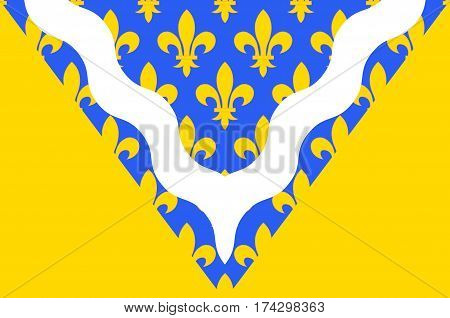 Flag of Val-de-Marne is a French department in the region of Ile-de-France
