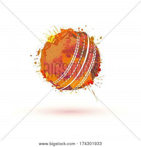 Cricket Ball. Vector Sign