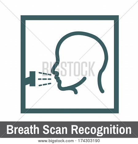 Biometric Scanning Graphic Breath Scan Recognition head