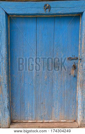 old door in the barn old wood texture trash