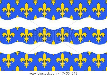 Flag of Seine-et-Marne is a French department named after the Seine and Marne rivers and located in the Ile-de-France region.