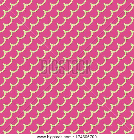 Wave geometric seamless pattern. Fashion graphic background design. Modern stylish abstract colorful texture. Template for prints textiles wrapping wallpaper website. Stock VECTOR illustration