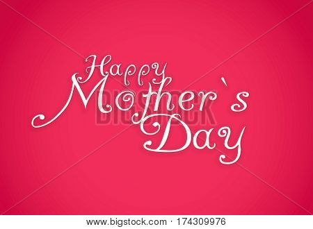Happy Mothers Day lettering. Handmade calligraphy .
