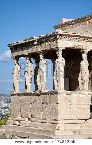 The Doric temple Parthenon at Acropolis hill Athens Greece