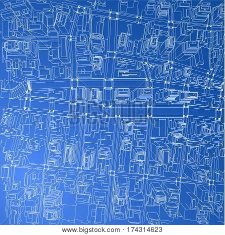 Wire frame city blueprint style vector photo bigstock wire frame city blueprint style 3d rendering vector illustration architecture design background malvernweather Choice Image
