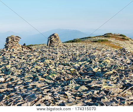 Summer Morning Mountain View (carpathians, Ukraine).