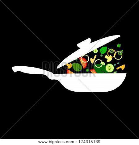 cooking pan saucepan kitchen food illustration object pot vector cook