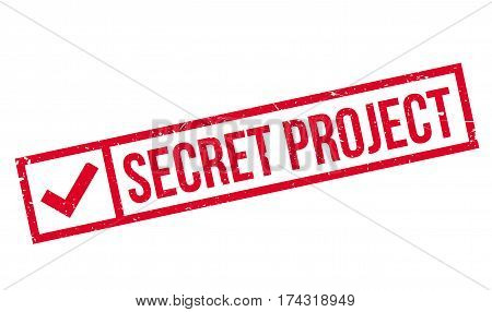Secret Project rubber stamp. Grunge design with dust scratches. Effects can be easily removed for a clean, crisp look. Color is easily changed.