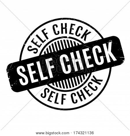 Self Check rubber stamp. Grunge design with dust scratches. Effects can be easily removed for a clean, crisp look. Color is easily changed.