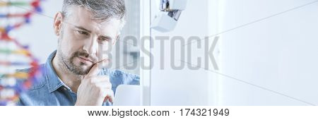 Scientist In His Lab