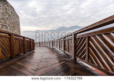 Old medieval citadel in the midle of Transylvania,Deva,Romania