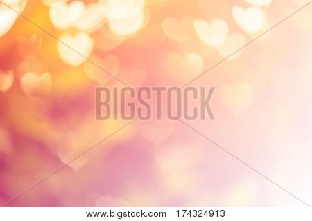 Blurred Background Of Valentine's Day Concept. Valentines Day Card. Pastel Color Tones.multicolored