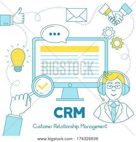 Crm Customer Relationship Service Illustration.