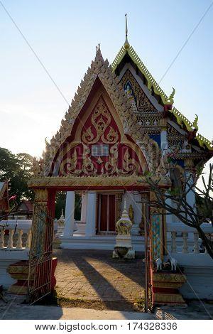 Entry of a Temple near Hua hin Thailand