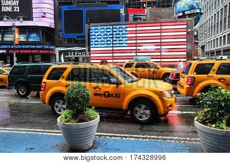 Yellow Cabs, New York