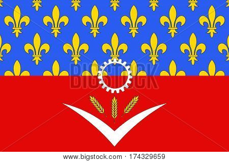 Flag of Seine-Saint-Denis is a French department named after the Seine and Marne rivers and located in the Ile-de-France region.