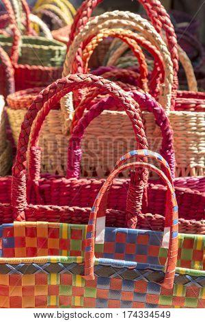 Colorful India Basket