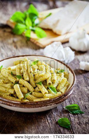 Rigatoni With Homemade Pesto