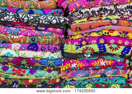 Colorful Textile Stack
