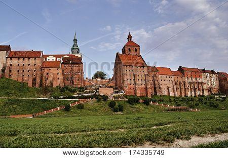 Gothic granaries Grain brick in Grudziadz in Poland