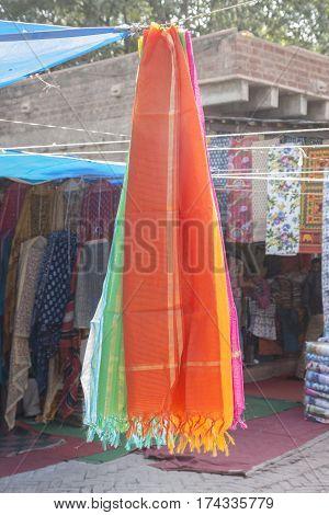 Indian Clothing Hanging