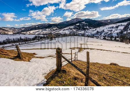 Last Days Of Winter In Rural Landscape