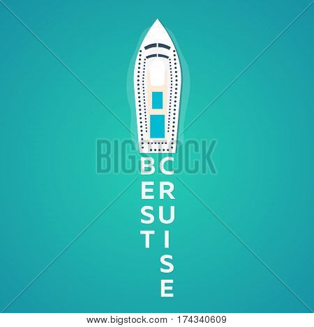 Best Cruise. Colourful Travel To Paradise. Best Cruise. Vector Flat Banner For Your Business.