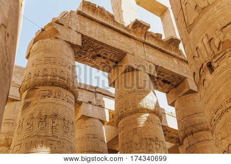 Ancient Karnak Temple In Luxor