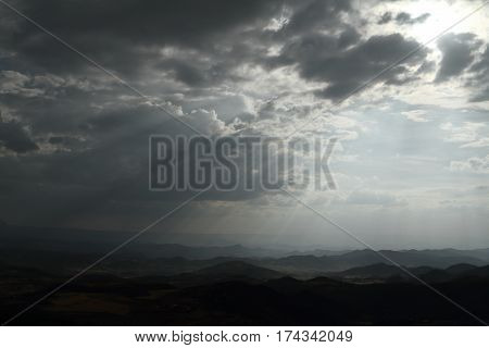 Clouds at the Rainy season in Africa
